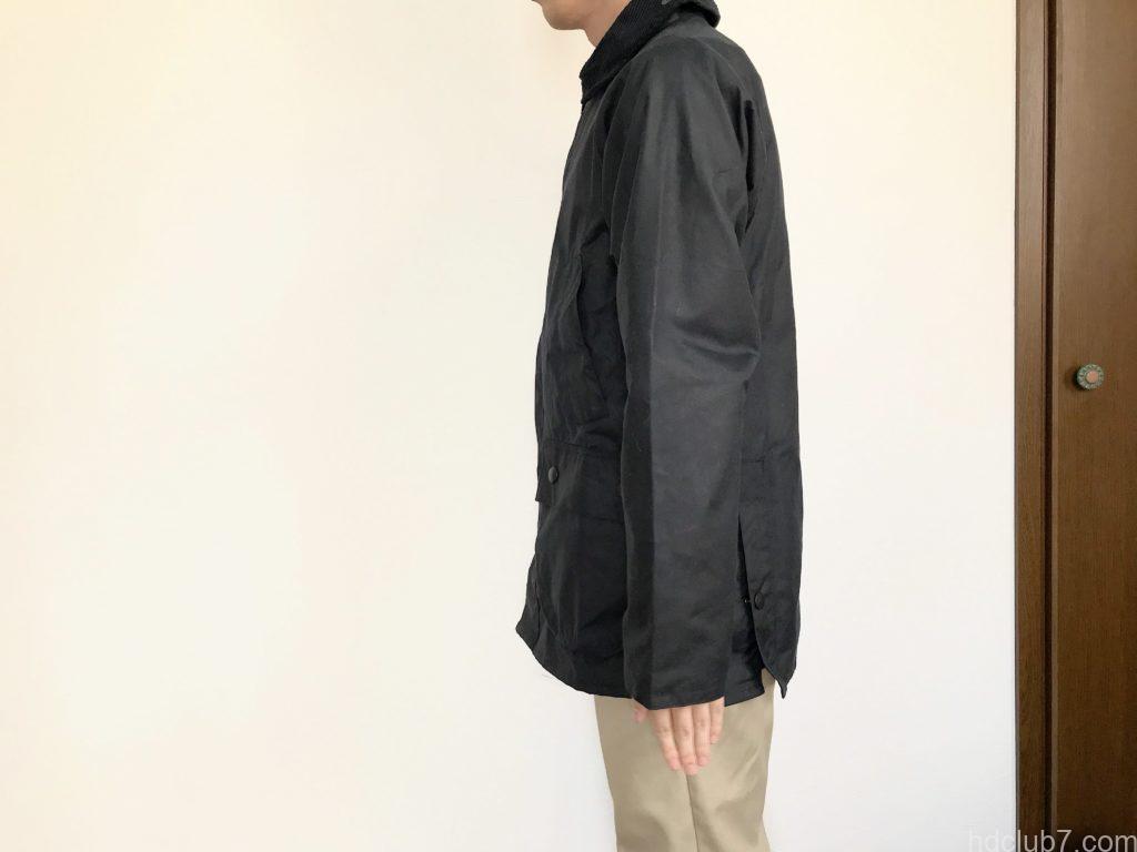 バブアービデイルSL36を163cm58kgの男が着たサイズ感