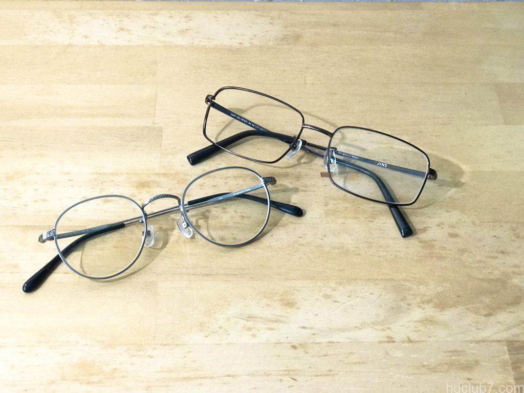JINSの5000円の壊れたメガネ2つ