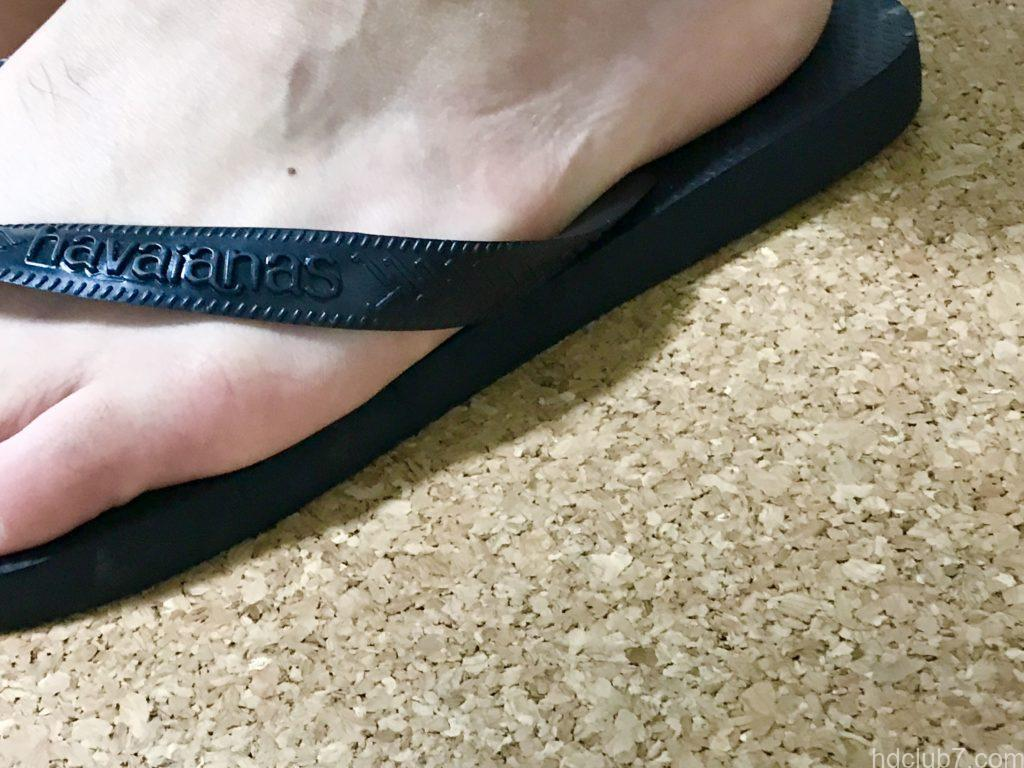 ハワイアナスのビーチサンダルのサイズ感