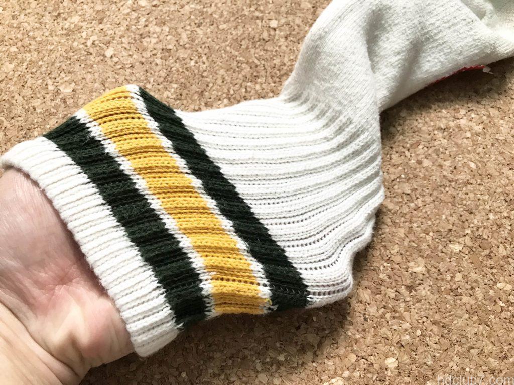 ヘルスニットの靴下の履き口の伸び