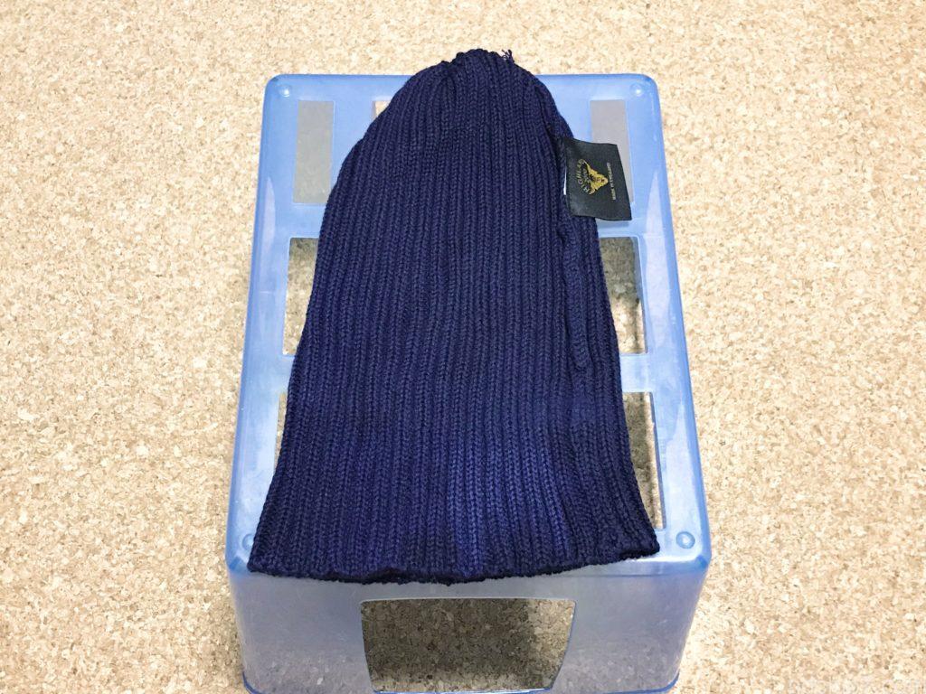 ハイランド2000のコットンニット帽を洗濯して乾燥中