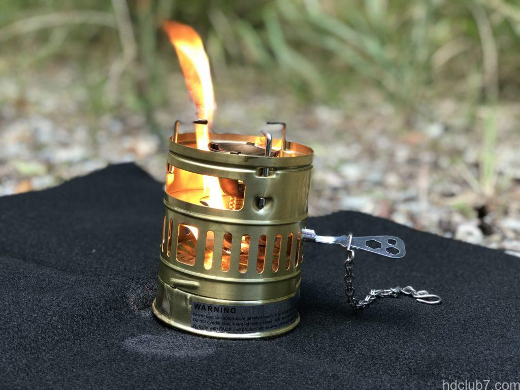 火だるまプレヒート中のスベア123R