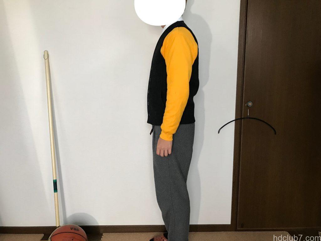 新品のフィルソンのマッキーノウールベスト(XSサイズ)を163cmの男が着たサイズ感