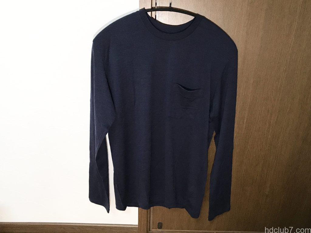 アイスブレーカーのメリノウールTのシャツ「テックライトロングスリーブポケットクルー」