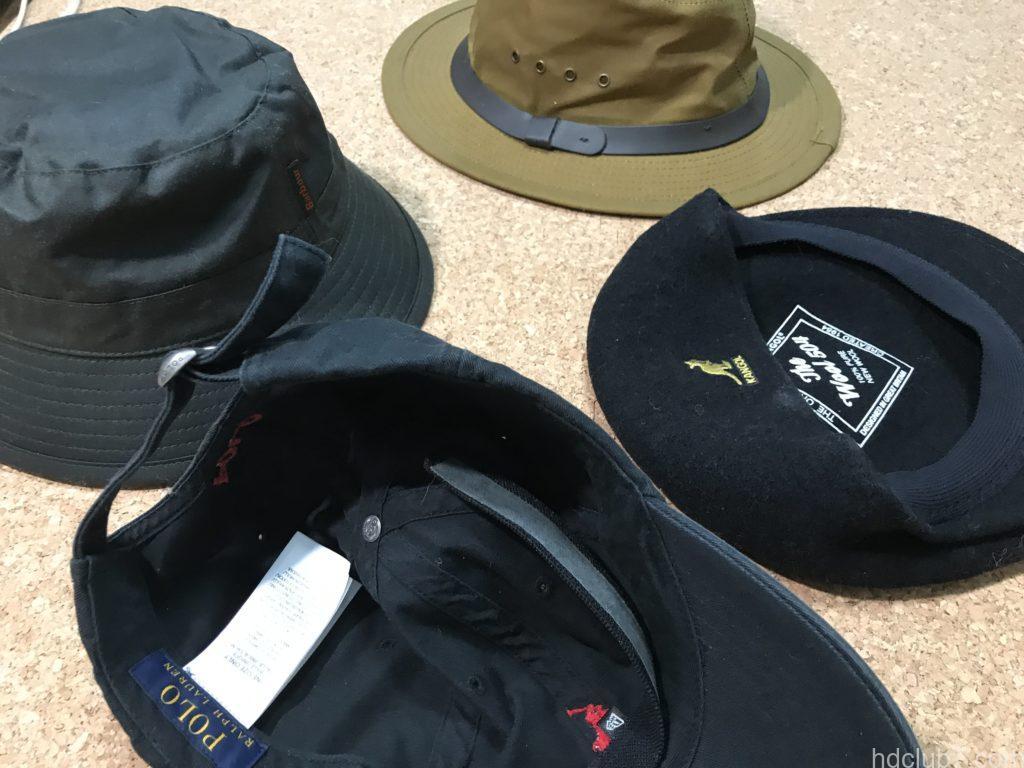 ニューエラのキャップライナーと4個の帽子