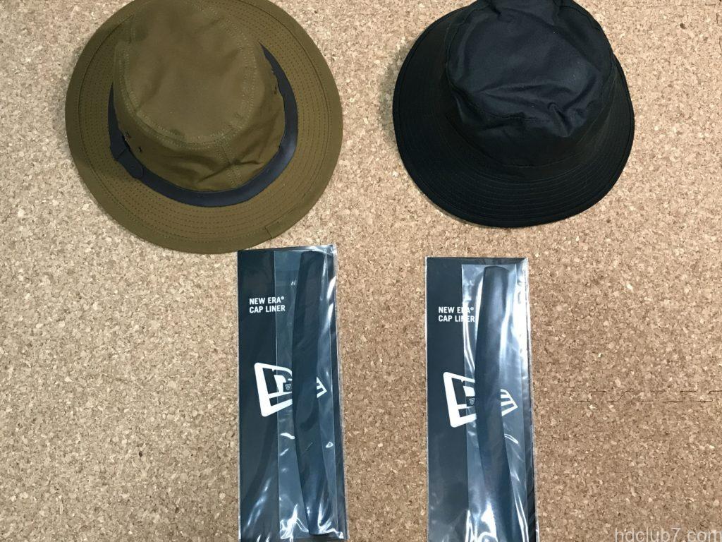 ニューエラのキャップライナー2個と帽子2個