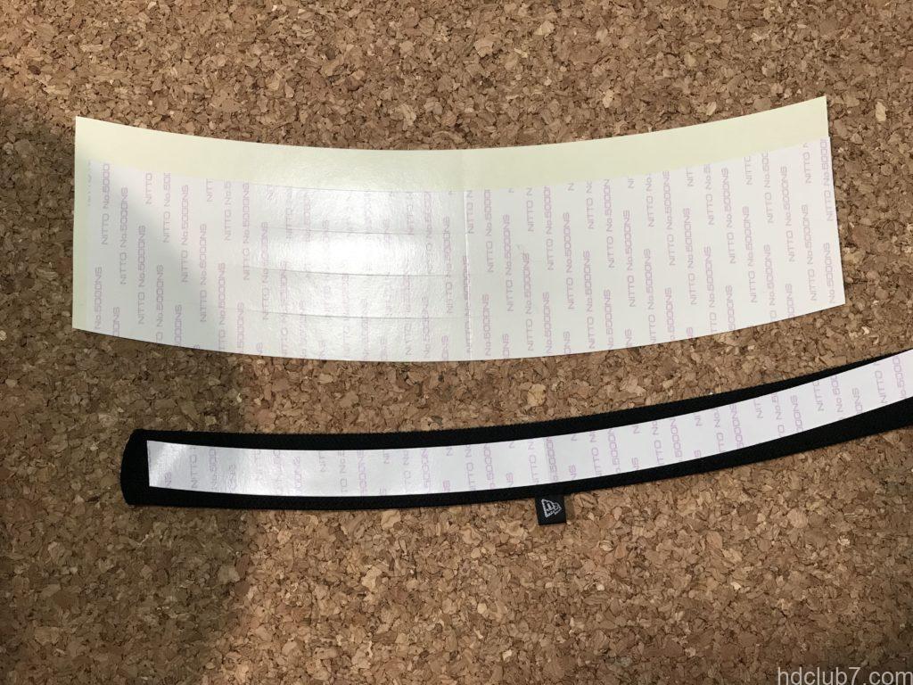 ニューエラのキャップライナーと付属のテープ