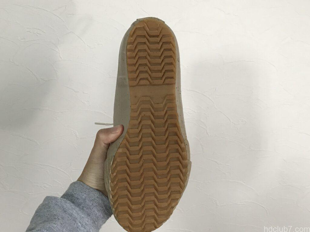 ムーンスターのオールウェザーの靴底