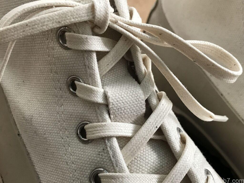ムーンスターのオールウェザーの靴紐