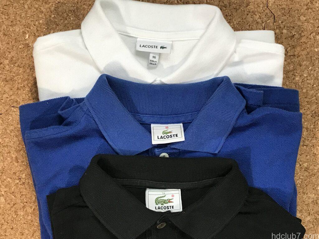 ラコステのポロシャツのボーイズモデル3着のタグ