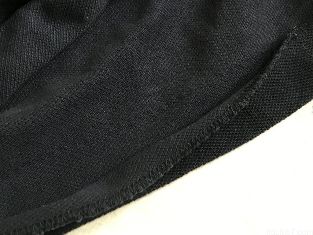 裾がほつれたラコステのポロシャツL1212の縫い跡