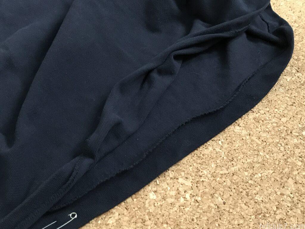 裾がほつれたラコステのポロシャツL1212