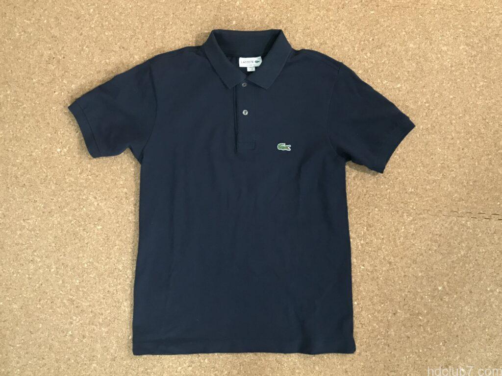 縫い終えたラコステのポロシャツL1212
