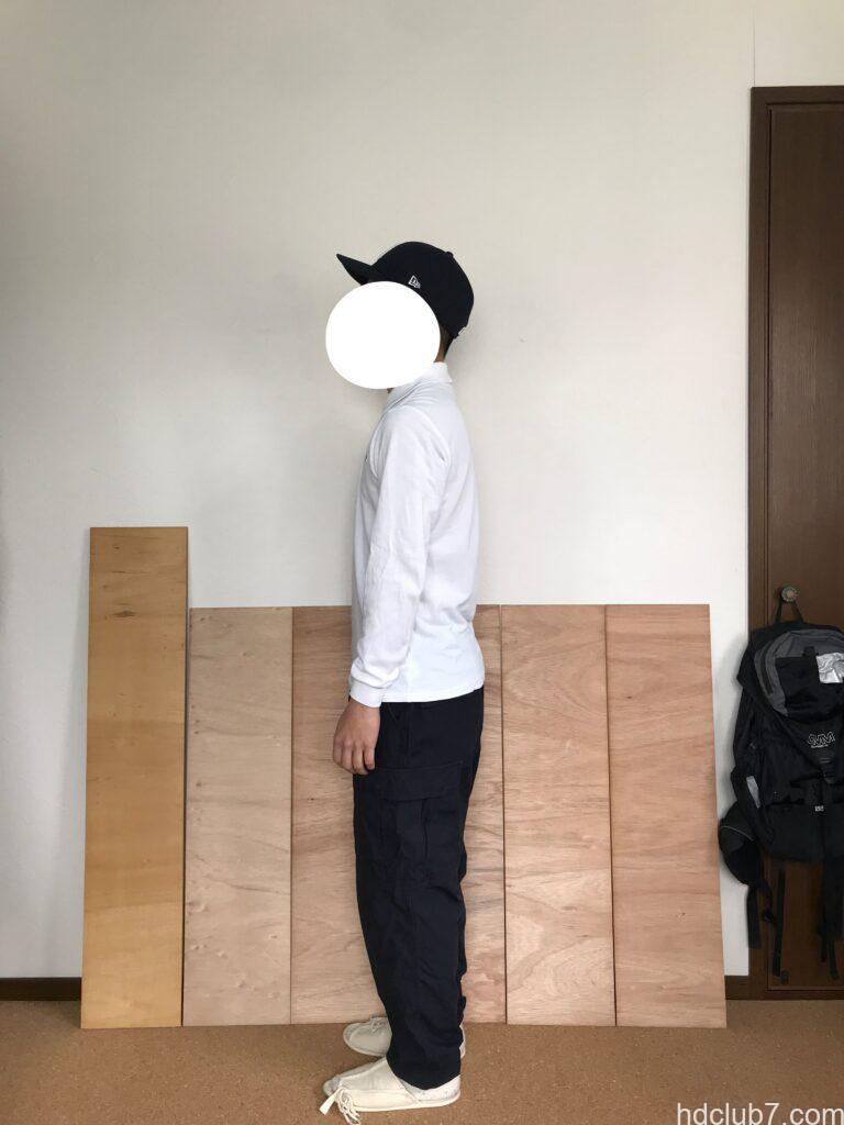 プロッパーのBDUカーゴパンツのネイビーのドローコードを絞って穿いた人