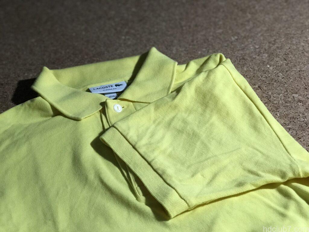 クロバーのほつれ補修針で補修したラコステのポロシャツ