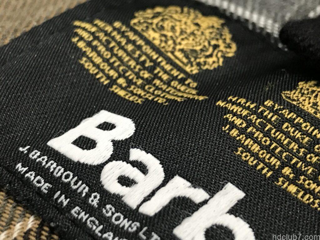 バブアーの現行ビデイルSLの刺繍タグ