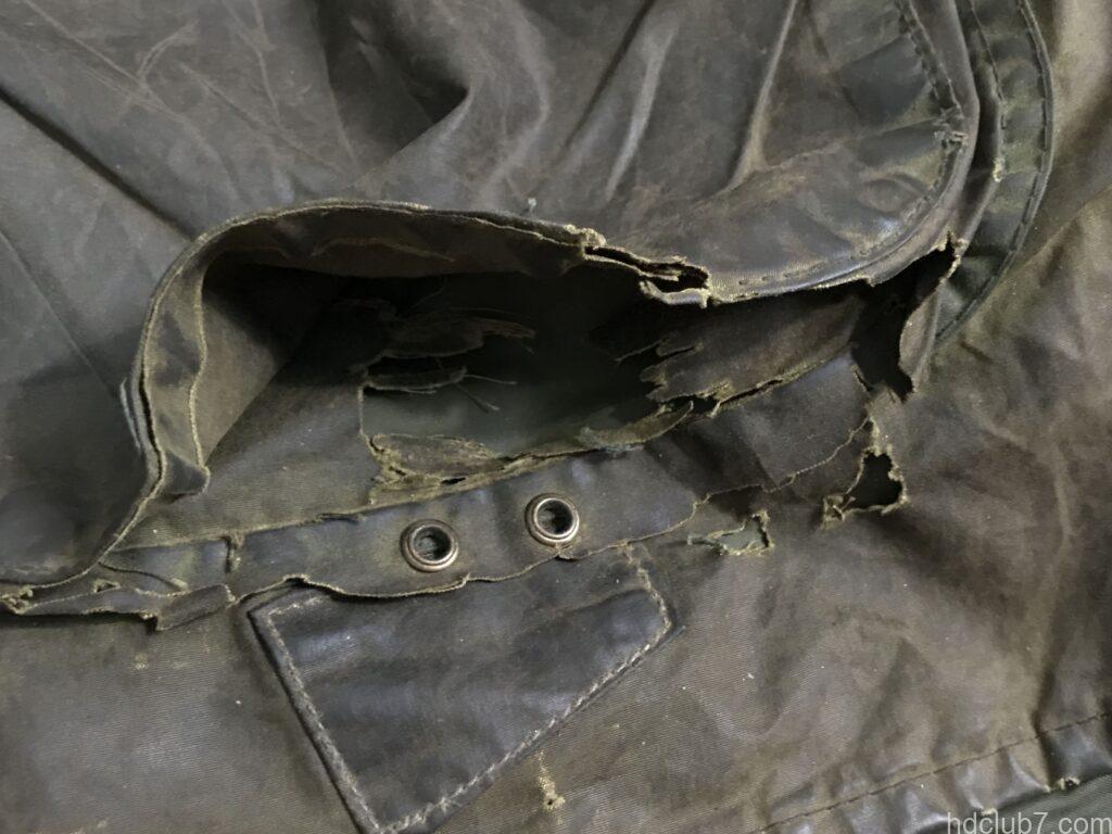 バブアーの2ワラント時代のビデイルのポケットの破れ