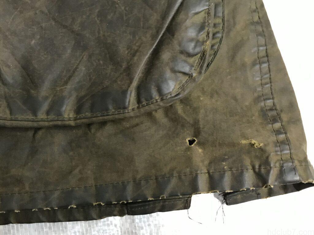 バブアーの2ワラント時代のビデイルの裾の小穴