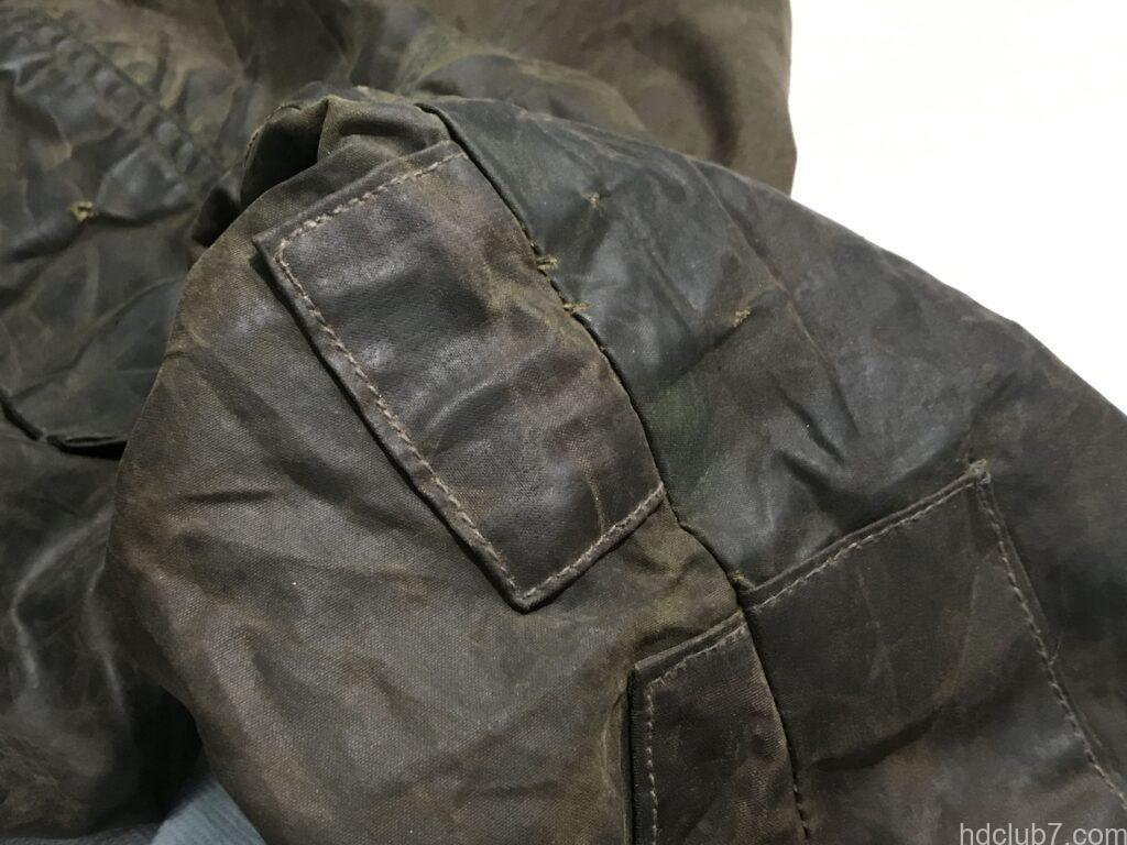 バブアービデイルのビンテージの当て布修理痕