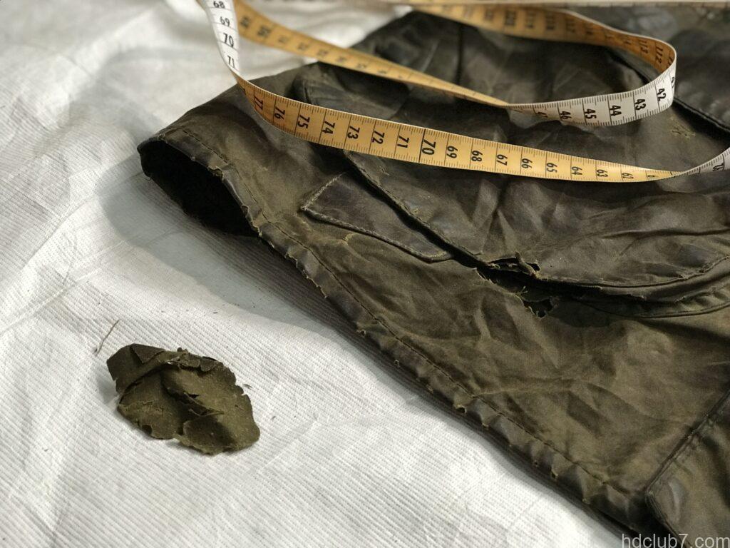 バブアービデイルのビンテージの破れた布