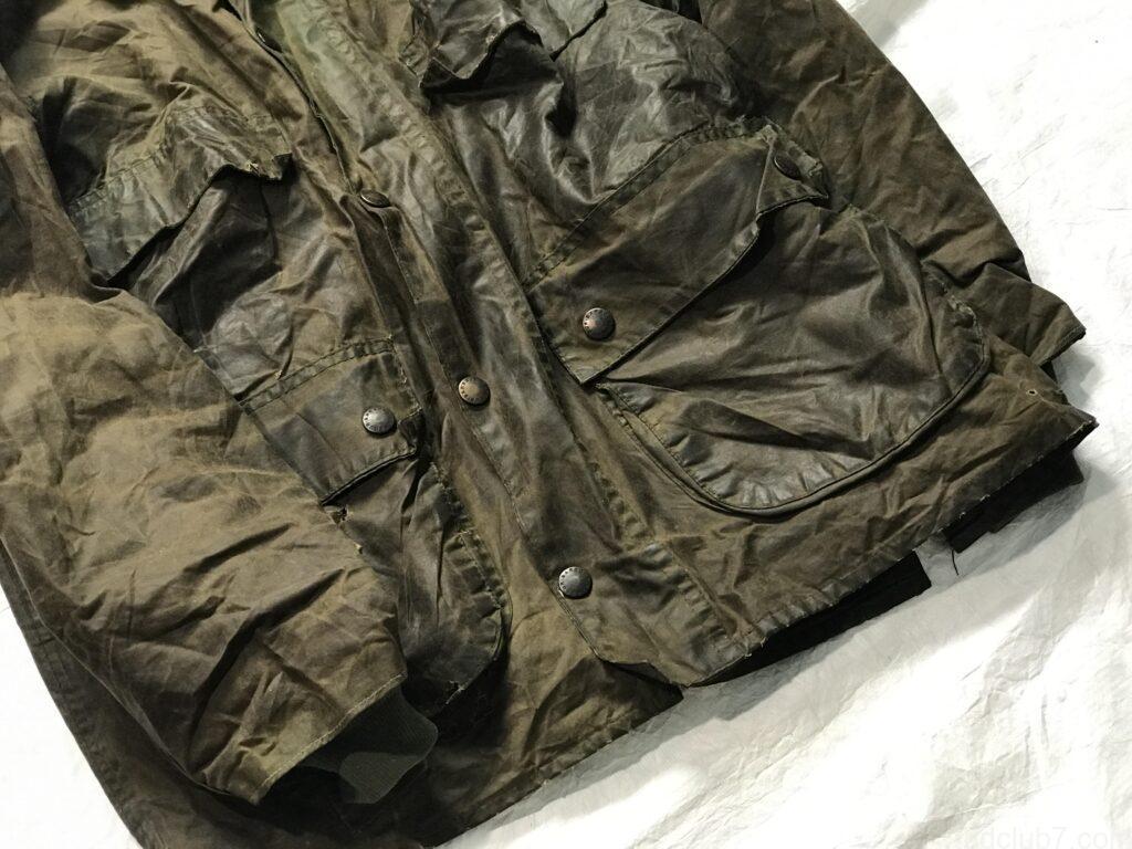 バブアービデイルのビンテージのポケット