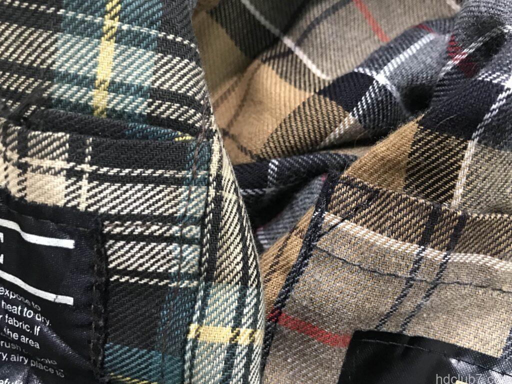 ビンテージビデイルと現行ビデイルSLの内ポケットの角