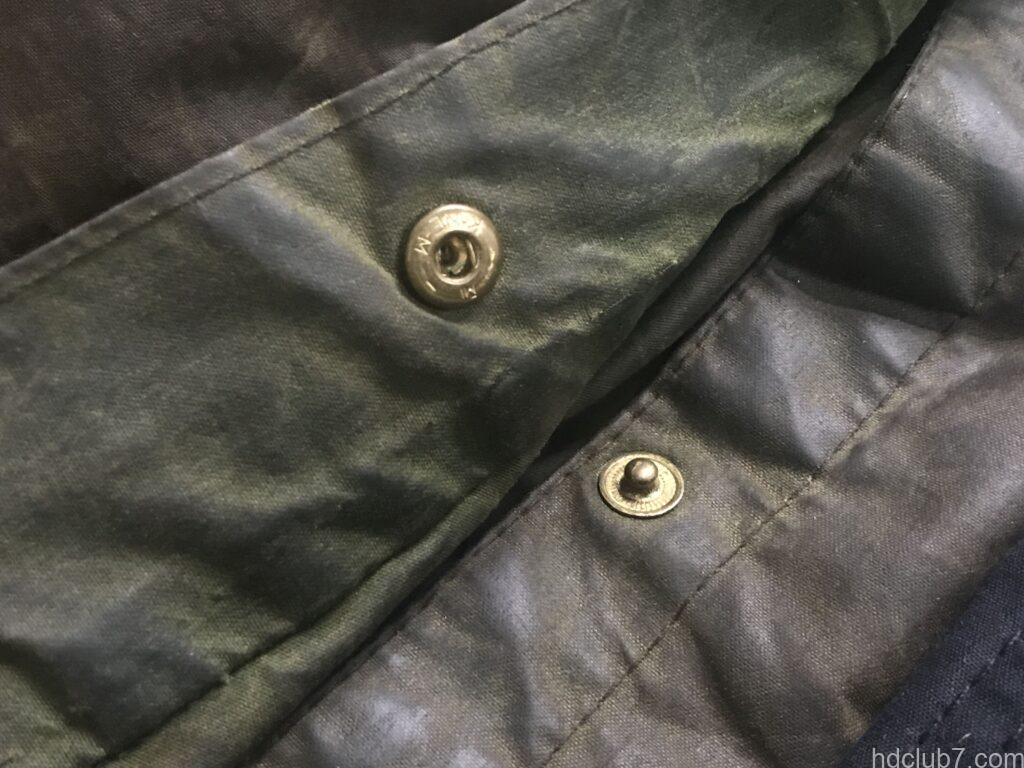 ビンテージビデイルのサイドベンツのスナップボタン